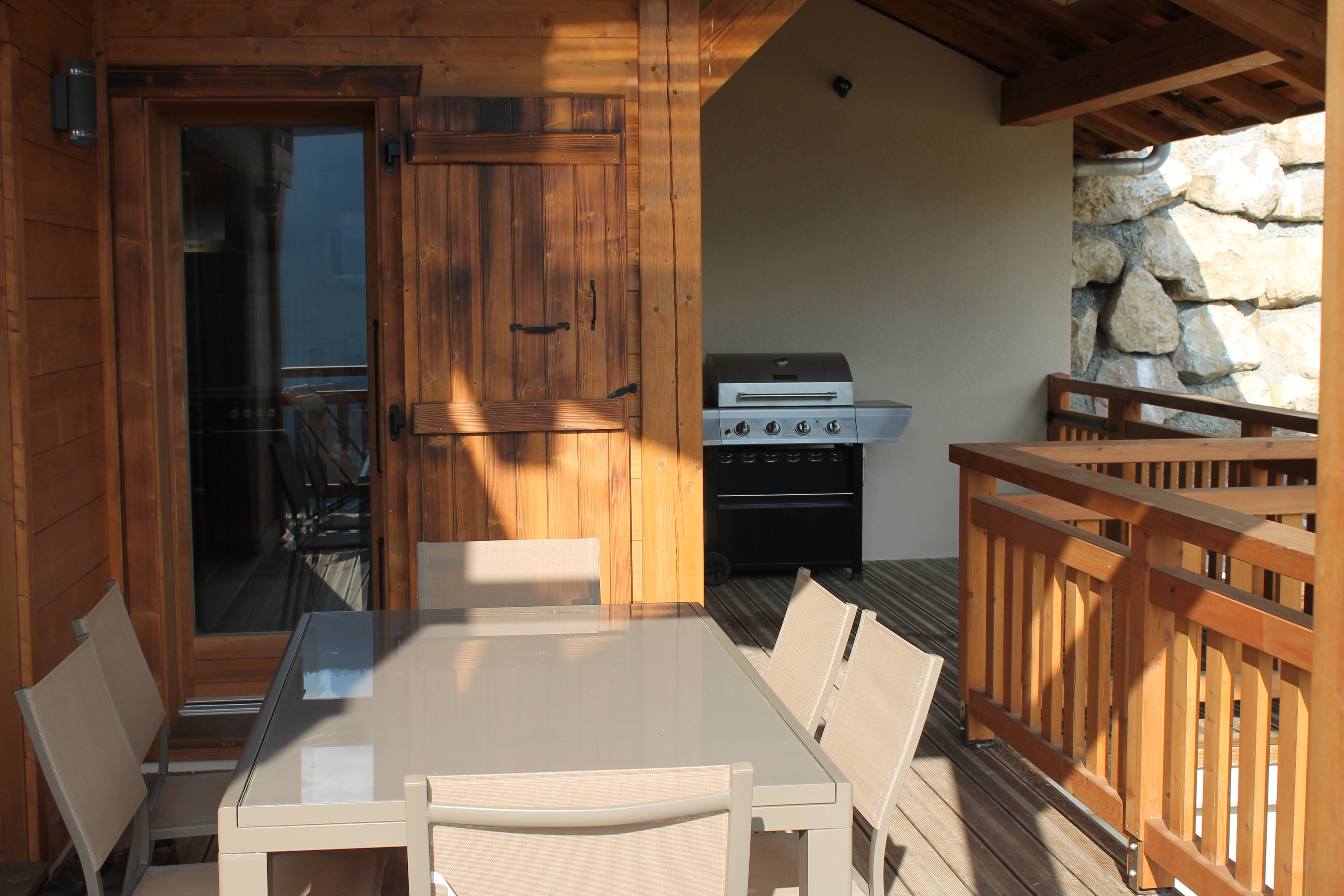 Terrace barbecue area