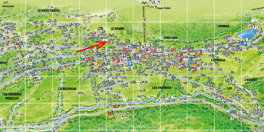 Location of Chalet Page in Chatel